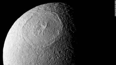 Saturn moon Tethys looks remarkably like the Death Star