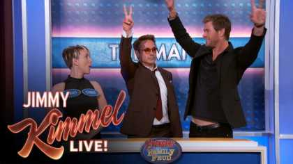 Avengers Family Feud On Jimmy Kimmel Live