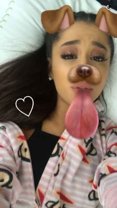 Ariana Grande Looks Good No Matter What Lenses She Use on Snapchat #moonlightbae