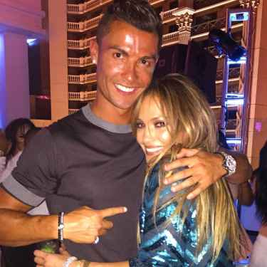 Cristiano Ronaldo posed with JLo for her 47th birthday bash in Las Vegas!