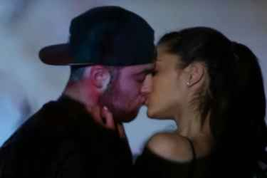 Ariana Grande and rapper Mac Miller spotted kissing