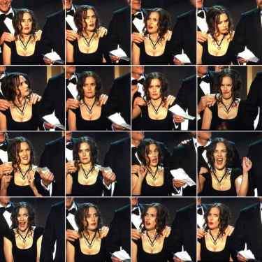 Winona Ryder's expressions last night at the #SAG2017 was enough for my #MondayMotivation