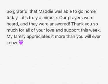 Britney Spears send thanks to her fans on Twitter following her niece hospital release