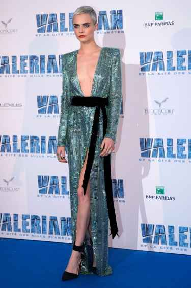 Cara Delevingne Wore Bella Hadid's Risqué Couture Gown In Her Movie's Premiere