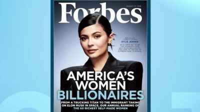 Kylie Jenner is set to be youngest self-made billionaire according to Forbes