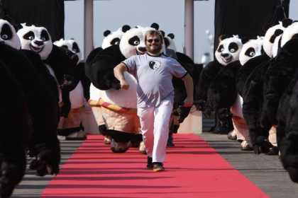 Jack Black and an Army of Kung Fu Pandas