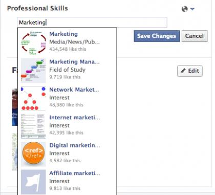 #Facebook Testing 'Professional Skills' Section On Profiles... a la LinkedIn