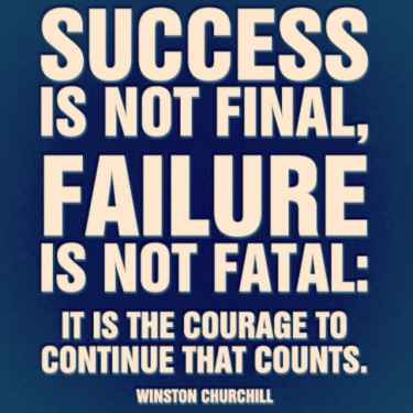 It is the #courage to continue that counts...