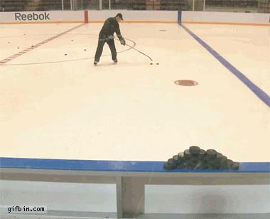 #Hockey Trick Shot #gif