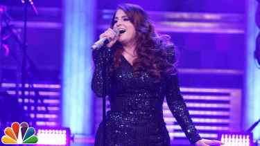 Meghan Trainor Falls On Stage At The Tonight Show