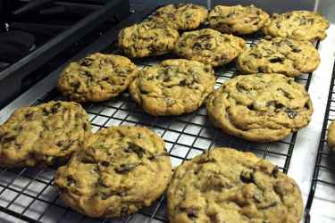 Made some chewy chocolate chip cookies... fresh from the oven