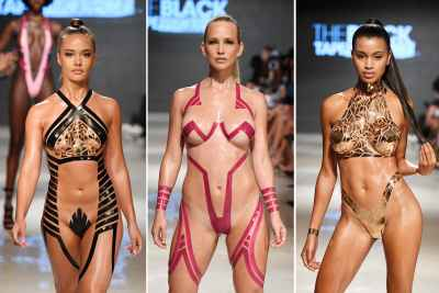 Duct-tape bikinis, the new trend in summer fashion? #MiamiSwimWeek
