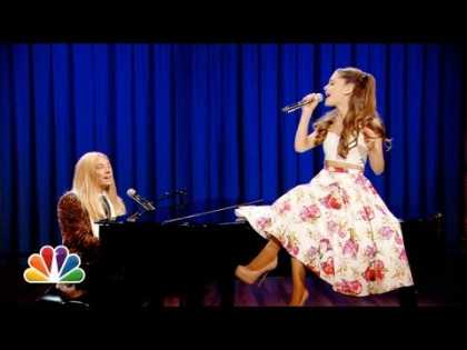 #Watercooler: Jimmy Fallon & Ariana Grande Sing Broadway Versions of Rap Songs