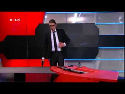 A Gunman Storms Dutch TV Live On Air!