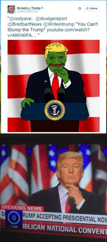 President-elect Pepe the frog Trump