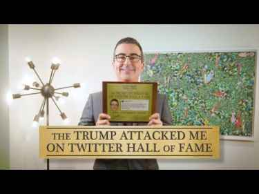 John Oliver Joins The 'Trump Attacked Me On Twitter' Hall Of Fame