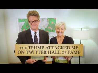 Joe Scarborough and Mika Brzezinksi Receives 'Trump Attacked Me On Twitter' Hall Of Fame