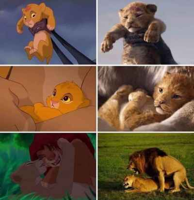 The Lion King 2019, compared to 1990's animation... CGI is crazy! #TheLionKing