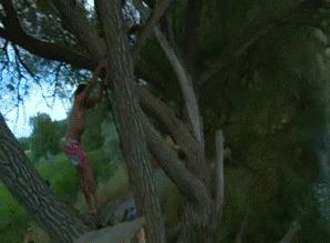 This is how you do back flip on a rope swing #funny #gif