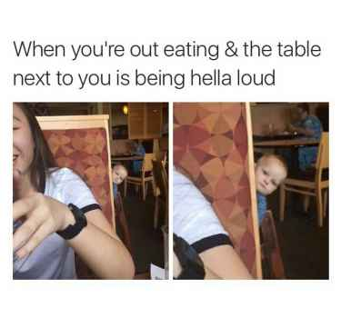 Loud people on restaurant