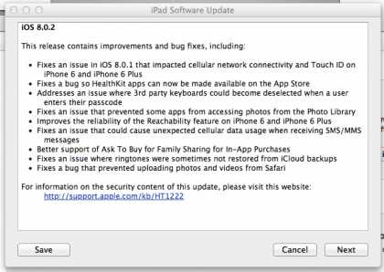 #FYI: iOS 8.0.2 update is out