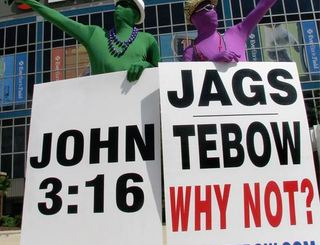 Tim #Tebow Rally Held by Jacksonville Fans