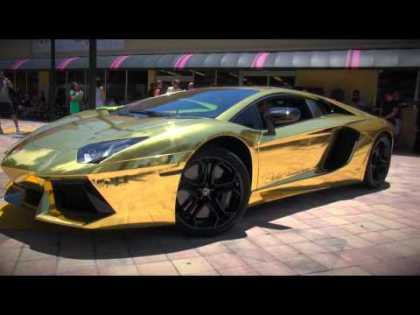 Worlds First #Gold Plated #Lamborghini #Aventador LP700-4