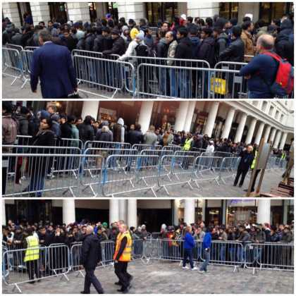 Looks like Apple is still winning, look at the long lines in London for the new #iPhone 5s