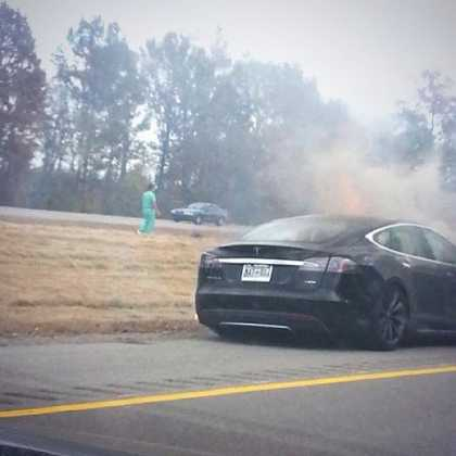 Instagram Photo of Third #Tesla Model S Fire in Nashville