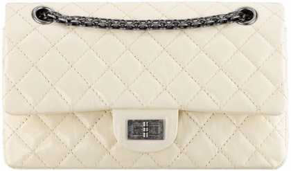 #CHANEL SMALL PATENT 2.55 REISSUE FLAP BAG