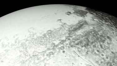 This is a view of Pluto flyover