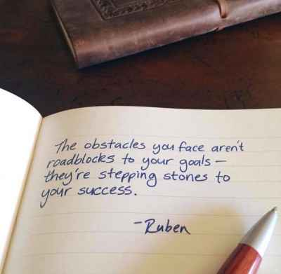The #obstacles you face aren't roadblocks to your goals... #quotes #success