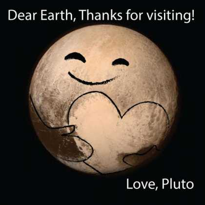 Aw, look at this #LoveLetter from the #PlutoFlyby made by Dean Cole! So cute!