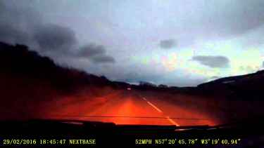 Scotland #Meteor Caught on Dashcam!