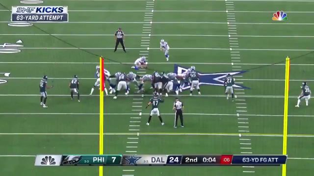 #Cowboys Kicker Brett Maher Drills 63-yard Field Goal