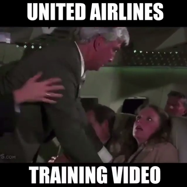 This is United Airlines training video 🤣