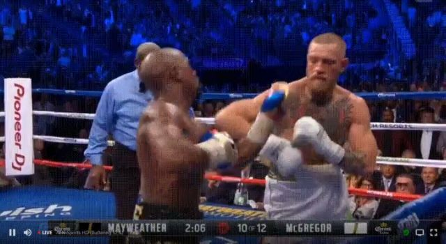 Mayweather vs McGregor 10th Round TKO Finish