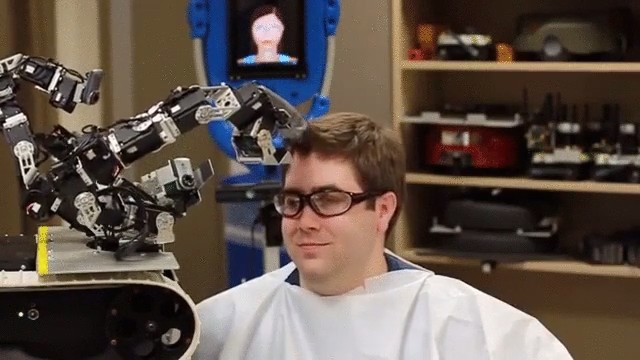 Would you trust a barber robot to cut your hair?