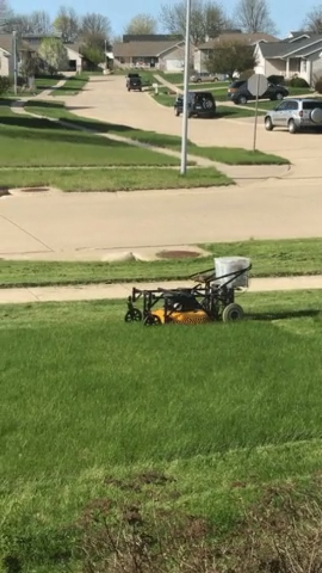 An engineer creates this remote controlled lawn mower and you will want one